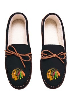 CHICAGO BLACKHAWKS TEAM COLOR BIG LOGO MOCCASIN - SMALL