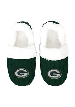 GREEN BAY PACKERS UGLY KNIT WOMENS MOCCASIN