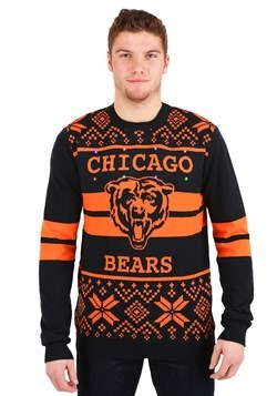 CHICAGO BEARS 2 STRIPE BIG LOGO LIGHT UP SWEATER