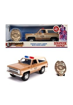 Stranger Things 1980 Blazer w/ Badge 1:24 Die Cast Vehicle