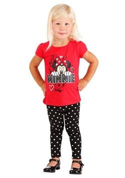 Minnie Mouse Red Shirt/Polka Dot Leggings 2 PC Set