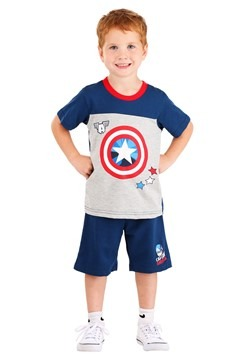 Captain America Tee and Terry Short Set
