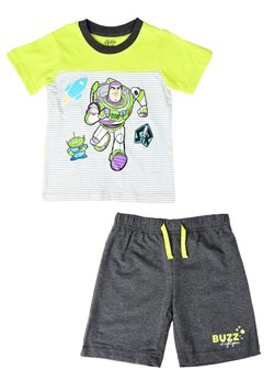 Buzz Lightyear Striped Tee and Terry Short Set Alt 1
