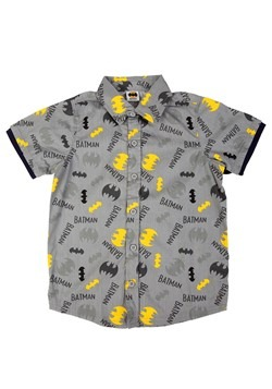 Batman Button Up Shirt Alt 1