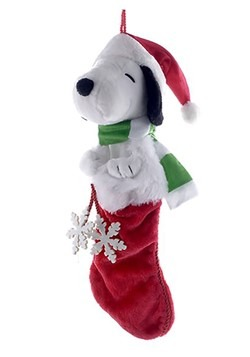 Snoopy Plush Head Stocking