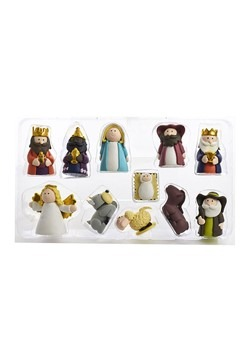 Claydough Nativity 11pc Figurine Set