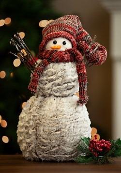 Plaid Snowman w/ Hat & Mittens Tablepiece