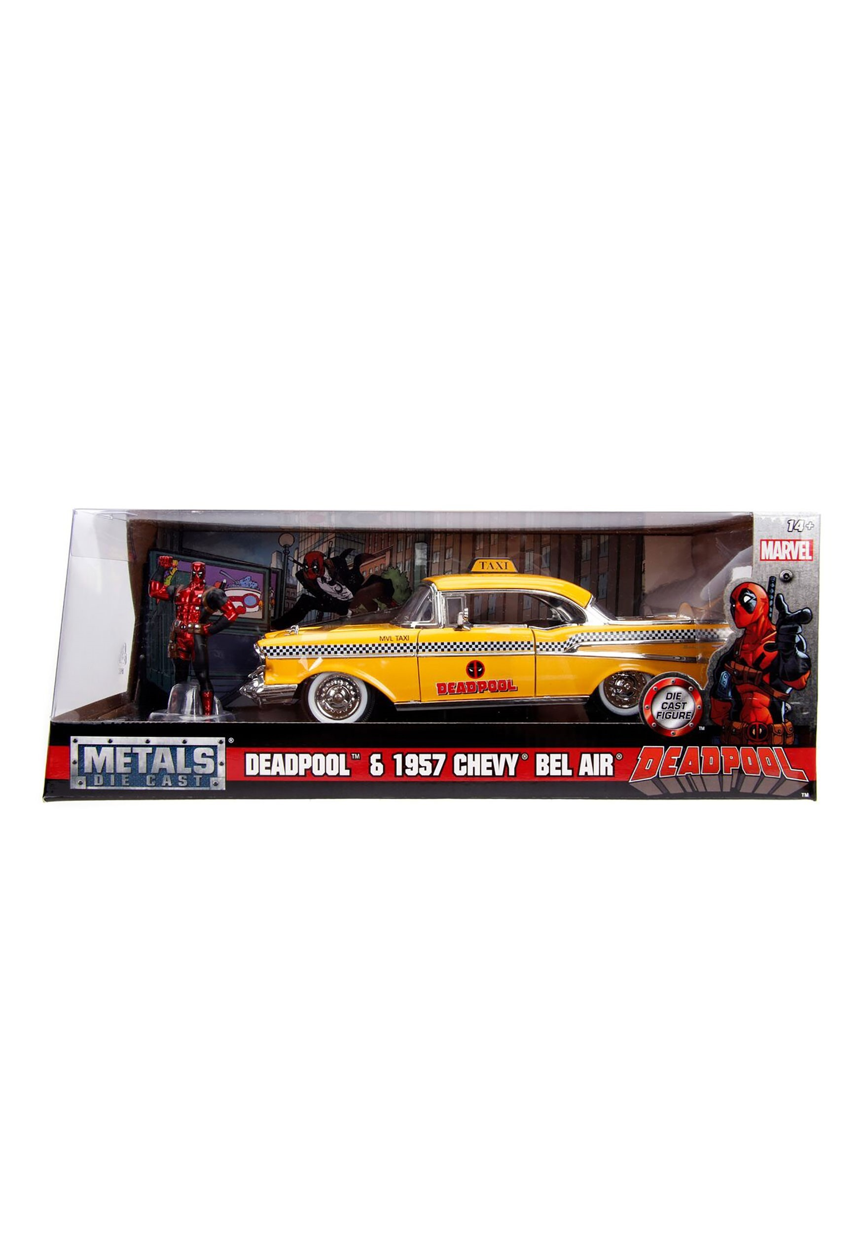1:24 Deadpool Taxi Vehicle with Figure