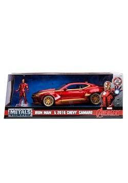 Iron Man & Chevy Camaro 1:24 Die-Cast Vehicle w/ F