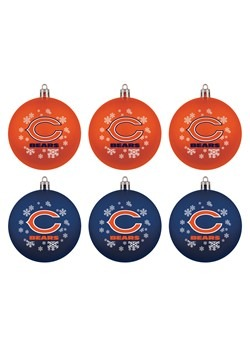 Chicago Bears Shatterproof Ornament 6 Pack Set