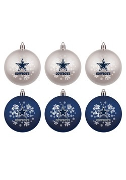Dallas Cowboys Shatterproof Ornament 6 Pack Set