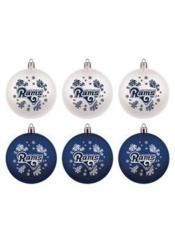 LA Rams Shatterproof Ornaments 6 Pack