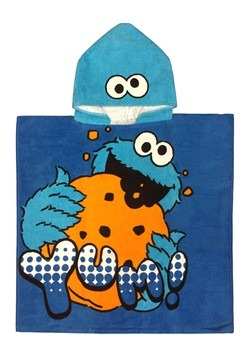 SESAME STREET COOKIE HOODED TOWEL