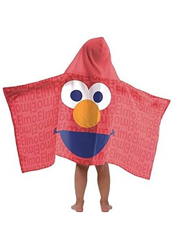 SESAME STREET ELMO HOODED TOWEL