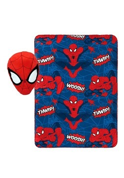 SPIDERMAN NOGGINZ SET & TRAVEL BLANKET