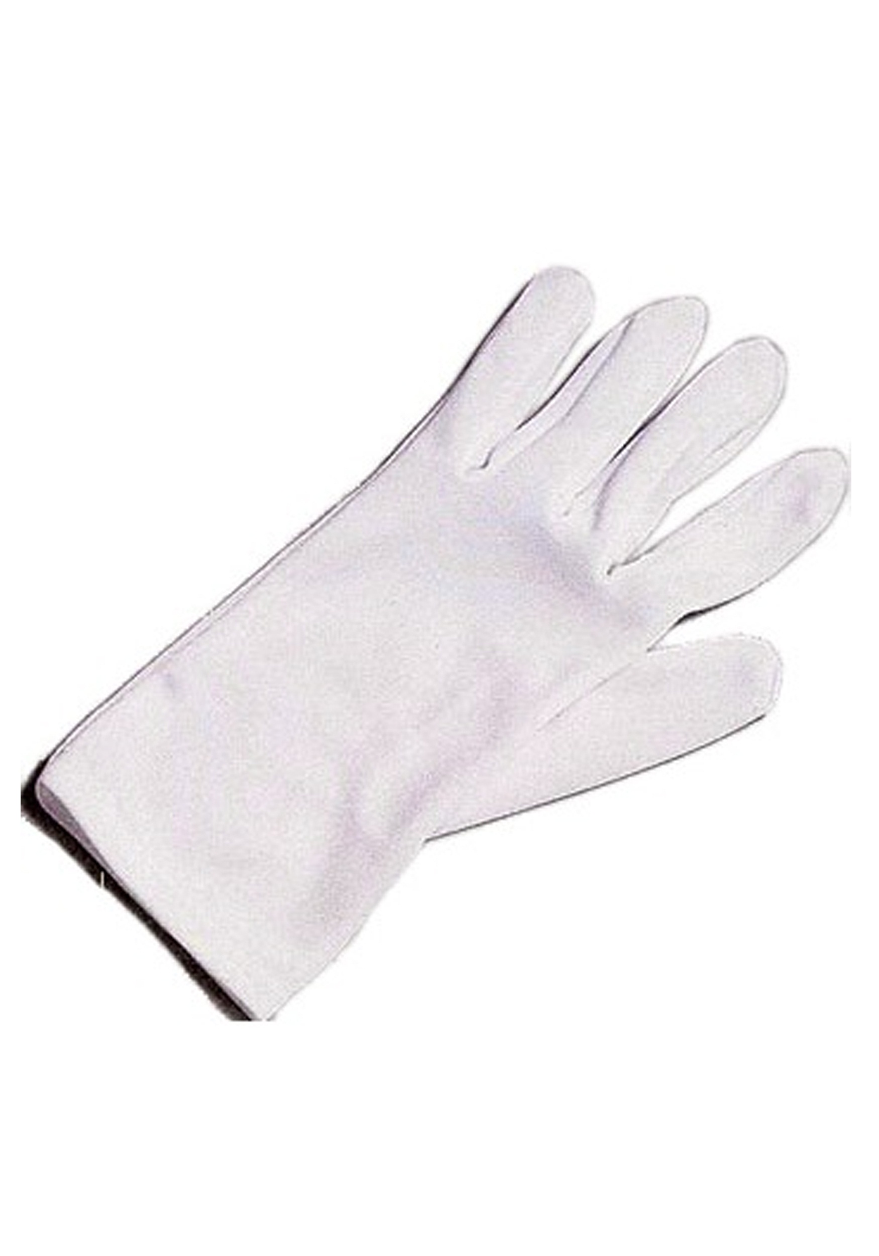 White Unisex Superhero Gloves