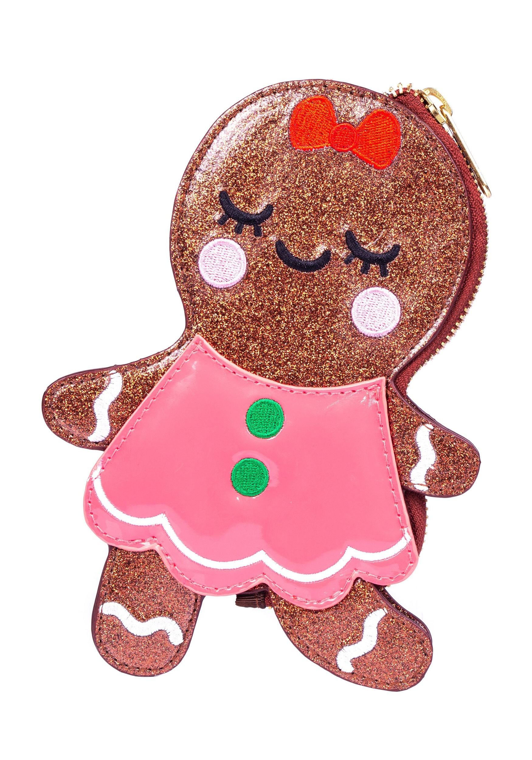 Irregular Choice Gingerbread Figure Christmas Purse