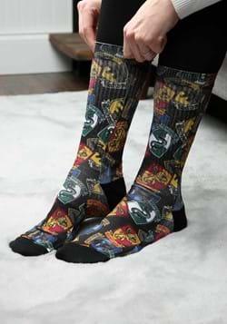 Hogwarts Houses Badges Sublimated Socks