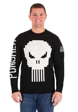 Marvel The Punisher Skull Mens Sweater