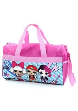 "LOL SURPRISE Girls 18"" Pink Duffel Bag"