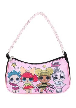 LOL SURPRISE Girls Handbag with Beaded Handle and