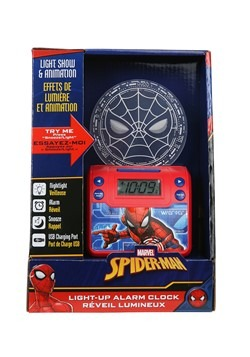 Spider-Man Classic Nightlight Alarm Clock w/ USB C