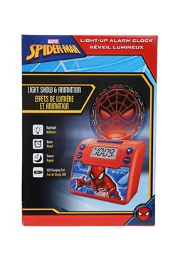 Spider-Man Classic Nightlight Alarm Clock w/ USB C Alt 1