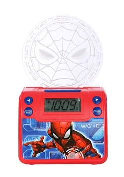 Spider-Man Classic Nightlight Alarm Clock w/ USB C Alt 2