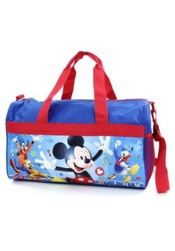 "Boys 18"" Mickey Mouse Blue/Red Duffel Bag"