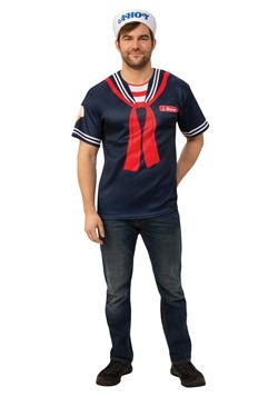Men's Stranger Things Steve Scoops Ahoy Costume