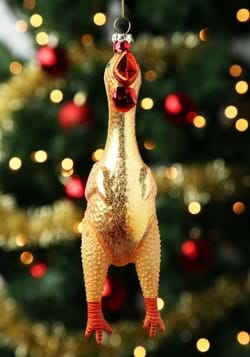 Rubber Chicken Glass Ornament