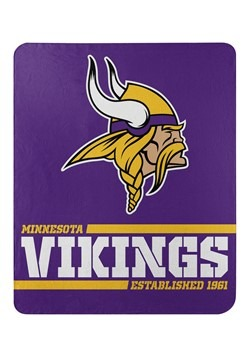 Minnesota Vikings Split Wide Fleece Throw
