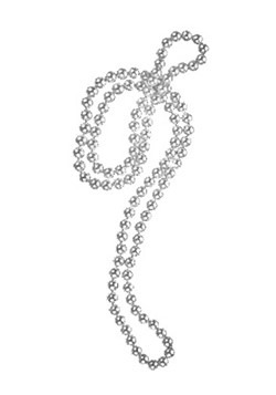 Silver Necklace With Beads