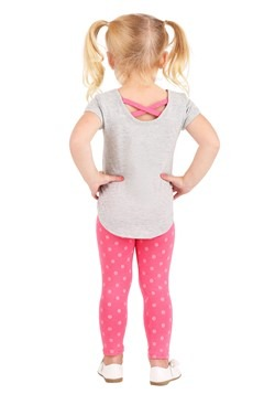 Girls Peppa Pig Gray Shirt and Legging Set Alt 1