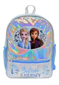 """Frozen 2 Foil 16"""" Backpack w/ Glitter Front Pocket"""