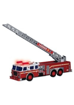 "FDNY 13"" Ladder Truck w/ Lights & Sound"
