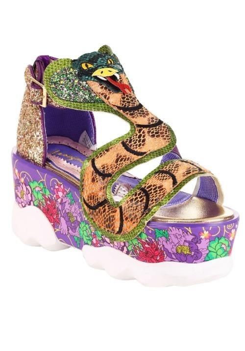 Irregular Choice Jellie Snake Gold/Pink Platform S Alt 1