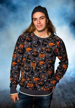 Adult Quirky Kitty Halloween Sweater