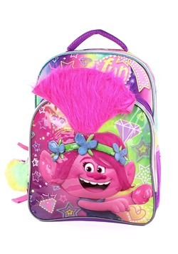 Trolls Poppy 3D Kids Backpack W/ Pom Pom