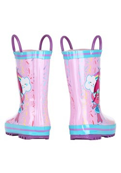 Trolls Poppy Pink w/ Blue Rain Boot Alt 2