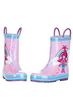 Trolls Poppy Pink w/ Blue Rain Boot Alt 3