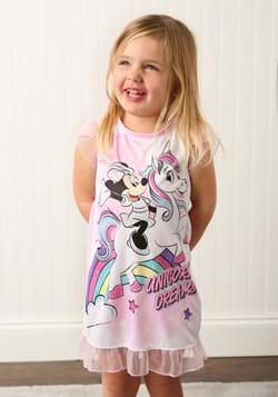 Girls Minnie Mouse Unicorn Dorm Nightgown