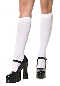 White Knee High Women's Stockings
