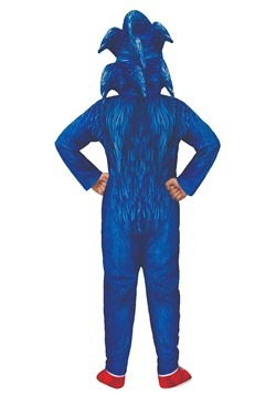Sonic The Hedgehog Deluxe Movie Costume Back