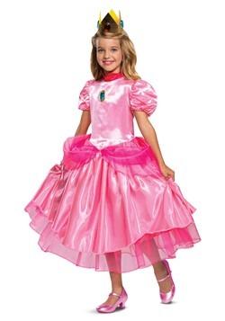 Super Mario Deluxe Princess Peach Girls Costume