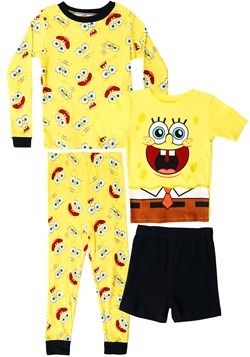 Boys Spongebob 4 Piece Sleep Set