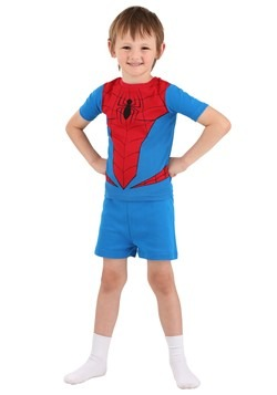 Boys Spiderman Suit 4 Piece Sleep Set