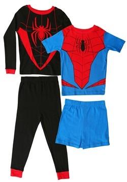 Boys Spiderman Suit 4 Piece Sleep Set Alt 1