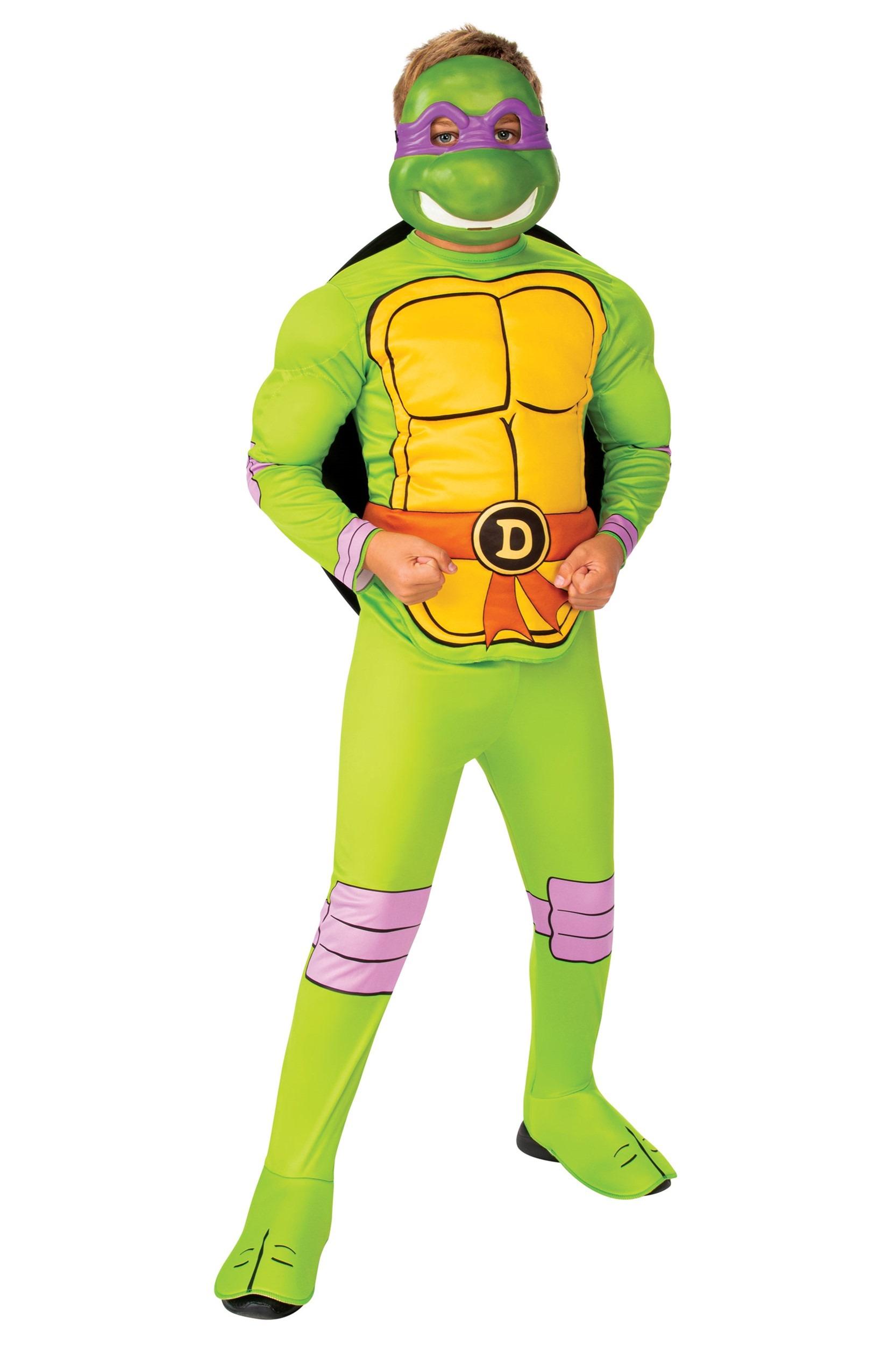 Mask Leonardo Donatello Raphael Turtles Costume Boy Child TMNT Printed T Shirt