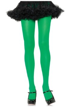 Women's Nylon Kelly Green Tights